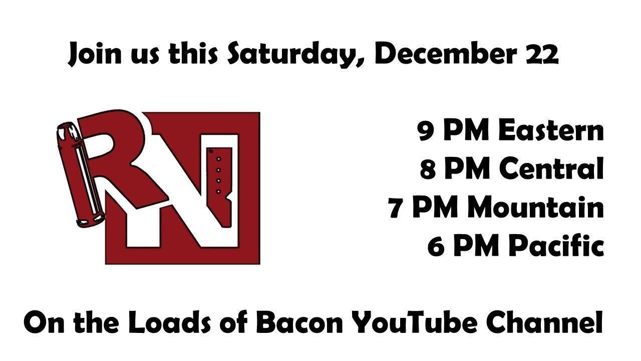 TRN Author Live Stream this Saturday (December 22)