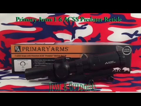 Primary Arms 1-6 ACSS Predator Reticle (tabletop)