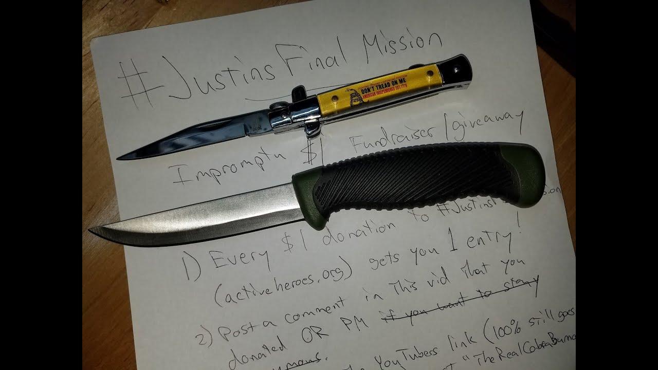 #JustinsFinalMission Impromptu Giveaway/Fundraiser ends 7Oct16