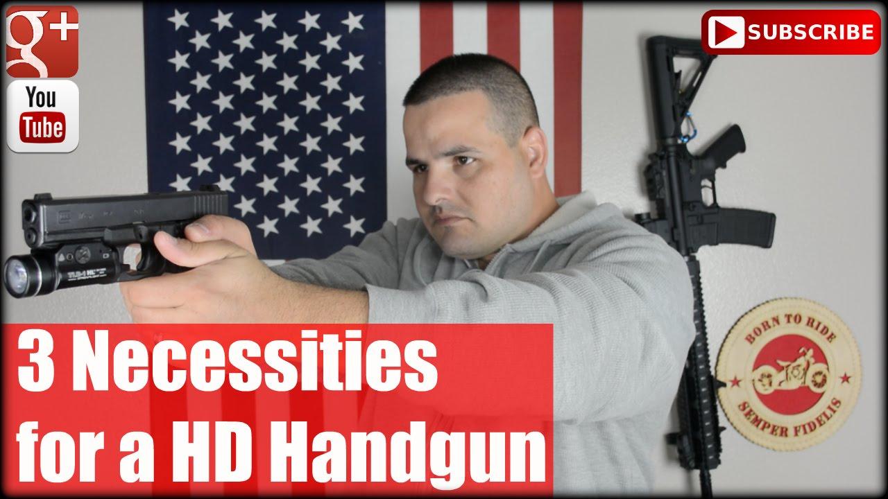3 Necessities for a Home Defense Handgun