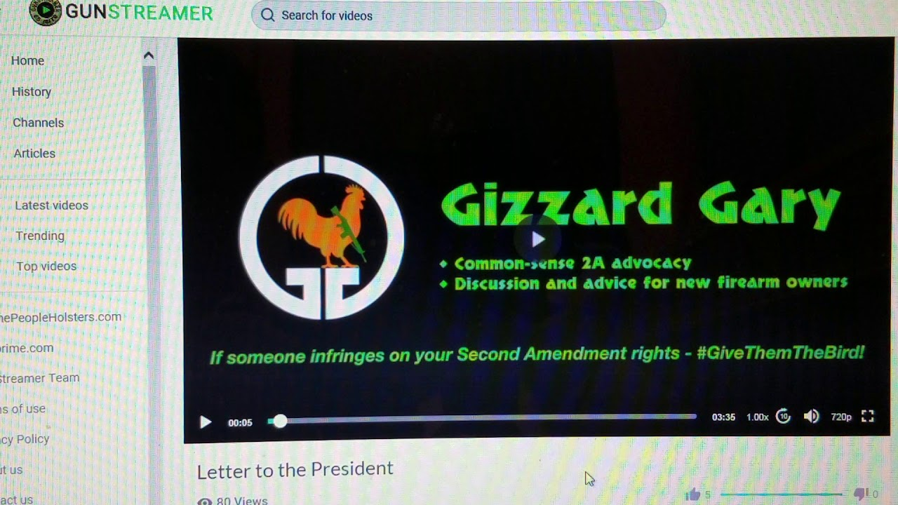 Letter to the President.  ( special thanks to gizzard Gary) #Give em the bird