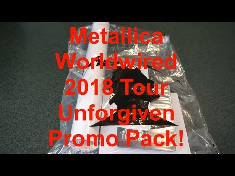Metallica Worldwired World Tour Unforgiven Ticket Promo Pack Unboxing!