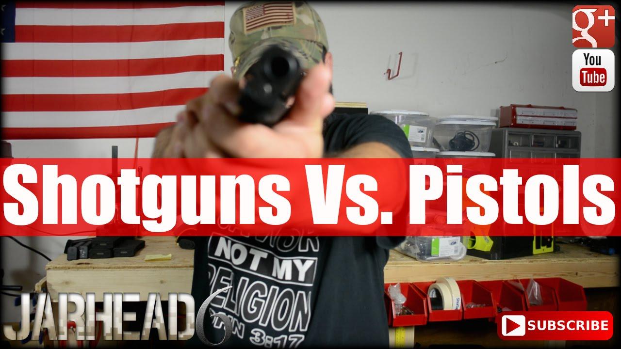 Shotguns Vs. Pistols for Home Defense