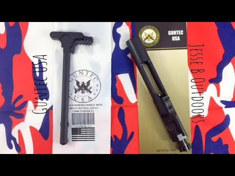 Guntec USA bolt carrier group and charging handle (quick look)