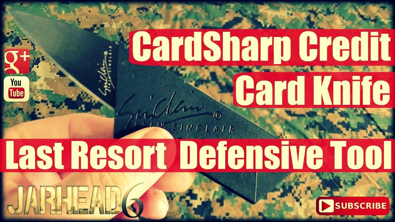 CardSharp Credit Card Knife: Last Resort Defensive Tool by Iain Sinclair!