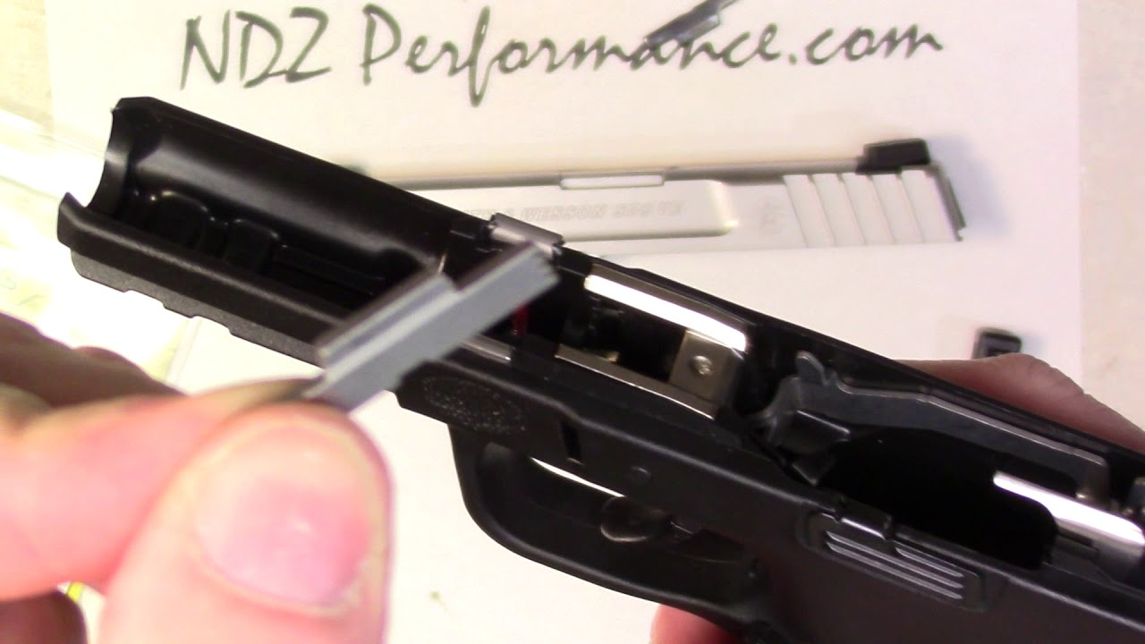 Smith and Wesson SD9VE SD40VE Wide Body Take Down Plate install by NDZ Performance
