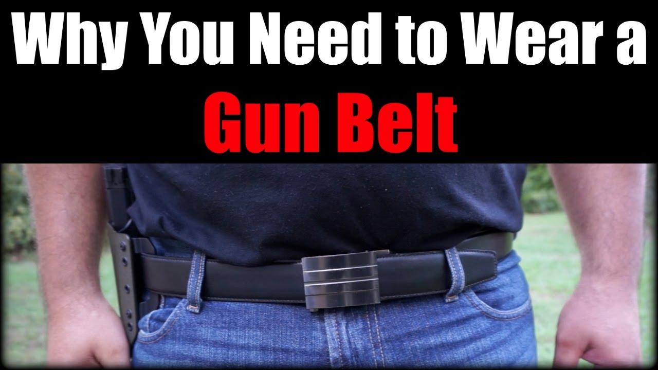Why You Need to Wear a Gun Belt| Concealed Carry