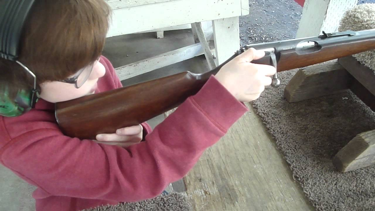 Savage model 23AA Rifle / Scouts' First Time at the Range