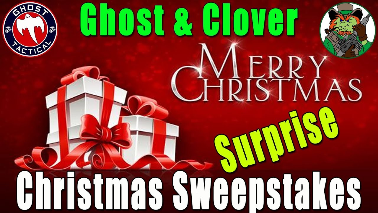 Ghost & Clover Christmas Sweepstakes:  Last Chance To Enter:  Live Drawing Tonight