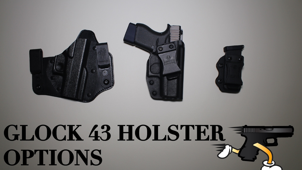 Glock 43 Holster Options - MultiHolster vs DeSantis with Taran Tactical Baseplate