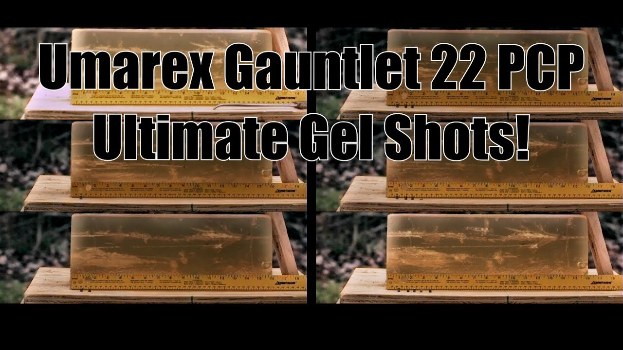 Umarex Gauntlet 22 PCP Axeon Optics Ultimate Pellet Gel Tests