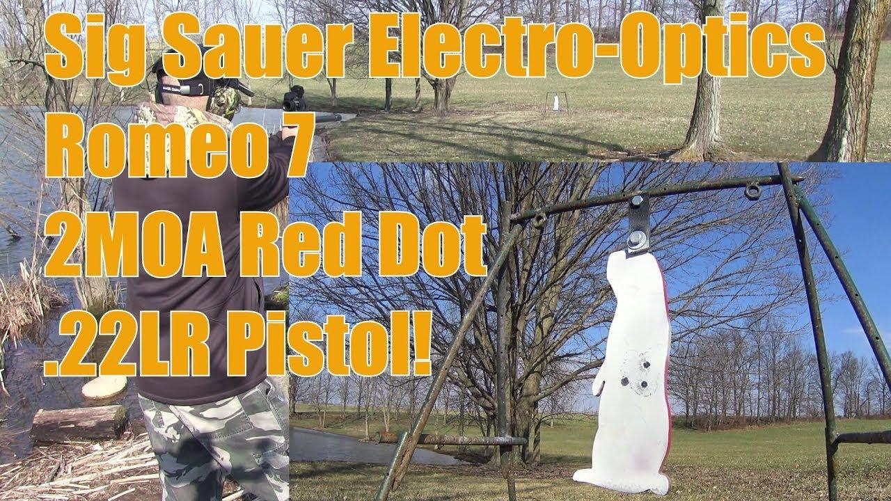 Sig Sauer Electro Optics Romeo 7 2MOA Red Dot on My Browning  22 Buckmark Pistol