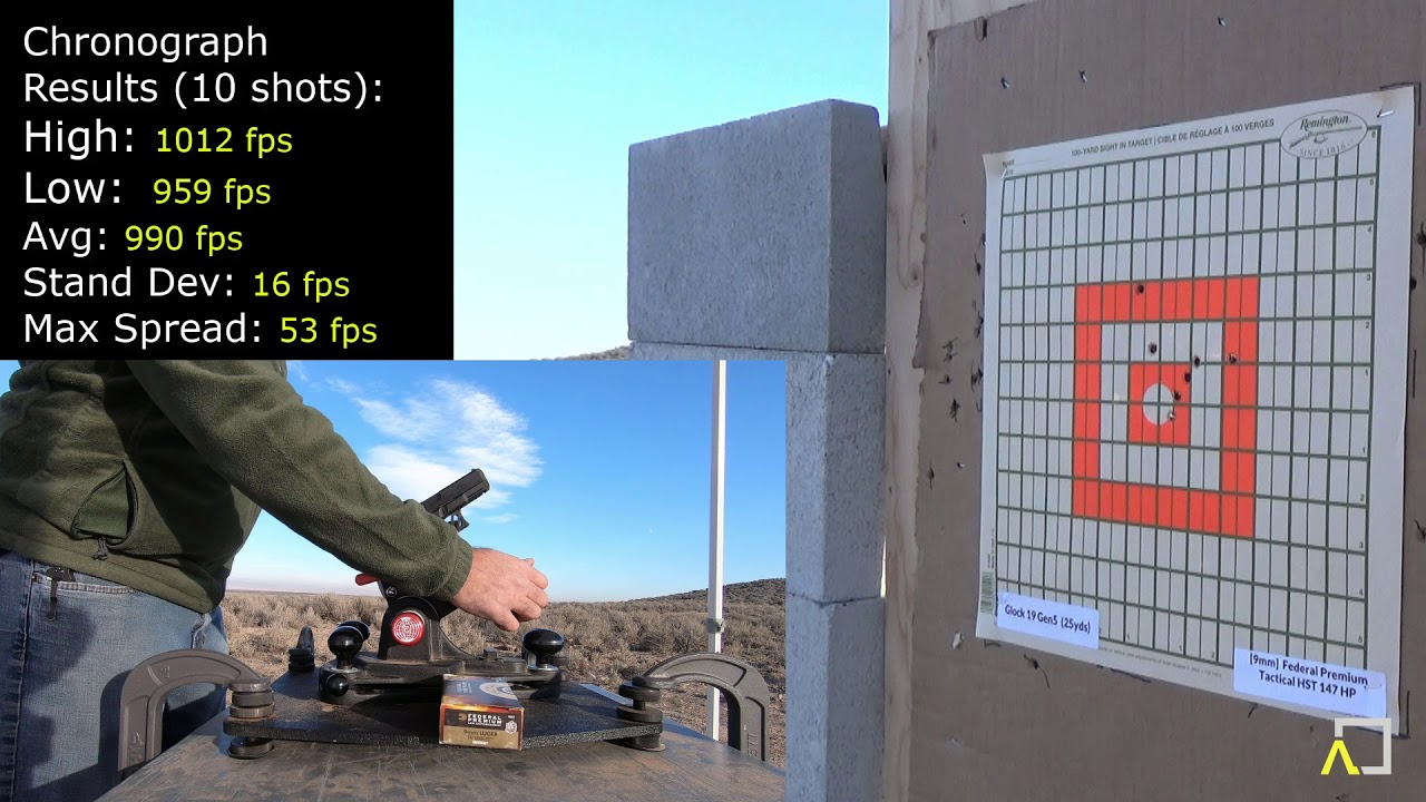 Glock 19 Gen5 Accuracy with Federal Premium Tactical 147gr HST