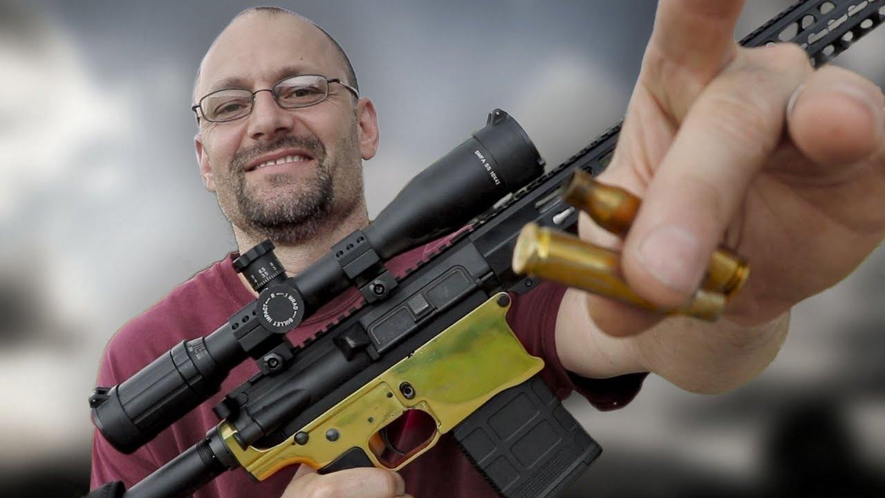 An AR-10 Made From Bullet Brass.