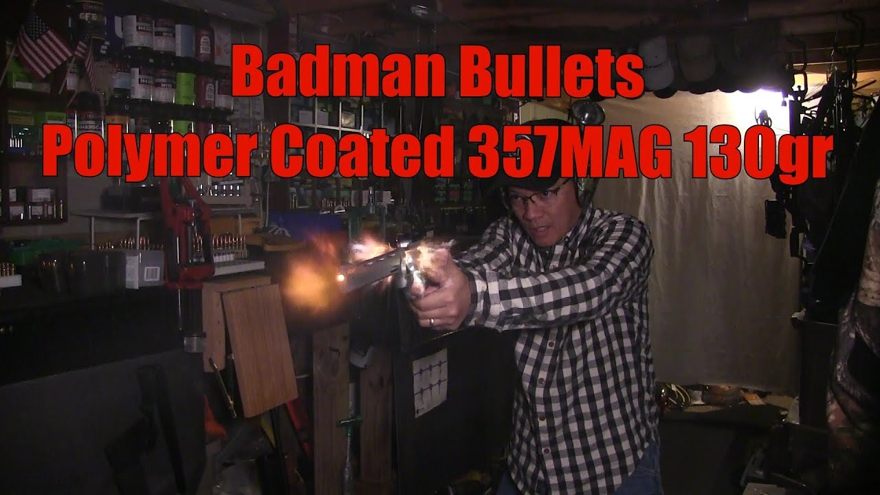 Badman Bullets 130gr RNFP Polymer Coated 357 Magnum Taurus Tracker Vortex Venom Red Dot