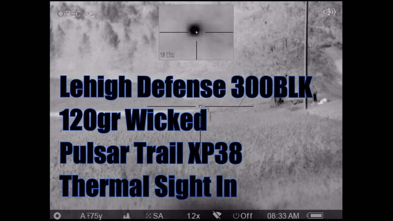 Lehigh Defense 300BLK Whisper 120gr Wicked Prototype Pulsar Trail XP38 Thermal Sight In