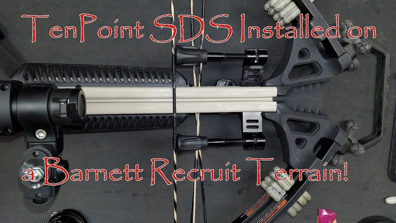 TenPoint SDS Test #1 String Dampening System Installed on a Barnett Recruit Terrain Crossbow