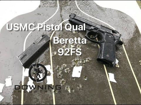 Beretta 92FS USMC Pistol Qual, First Attempt