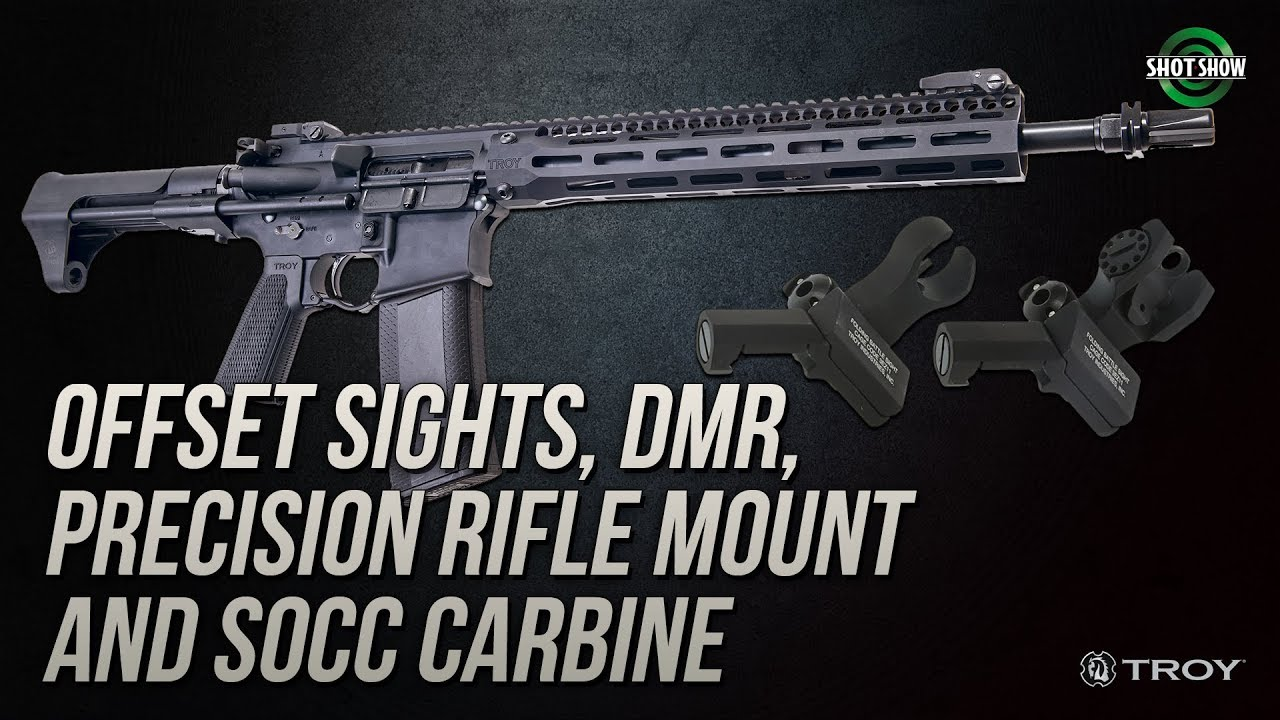 Troy Industries Offset Sights, DMR, PRM, SOCC Carbine - SHOT Show 2019