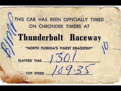 Thunderbolt Raceway - Clay County, Florida - circa 1960's