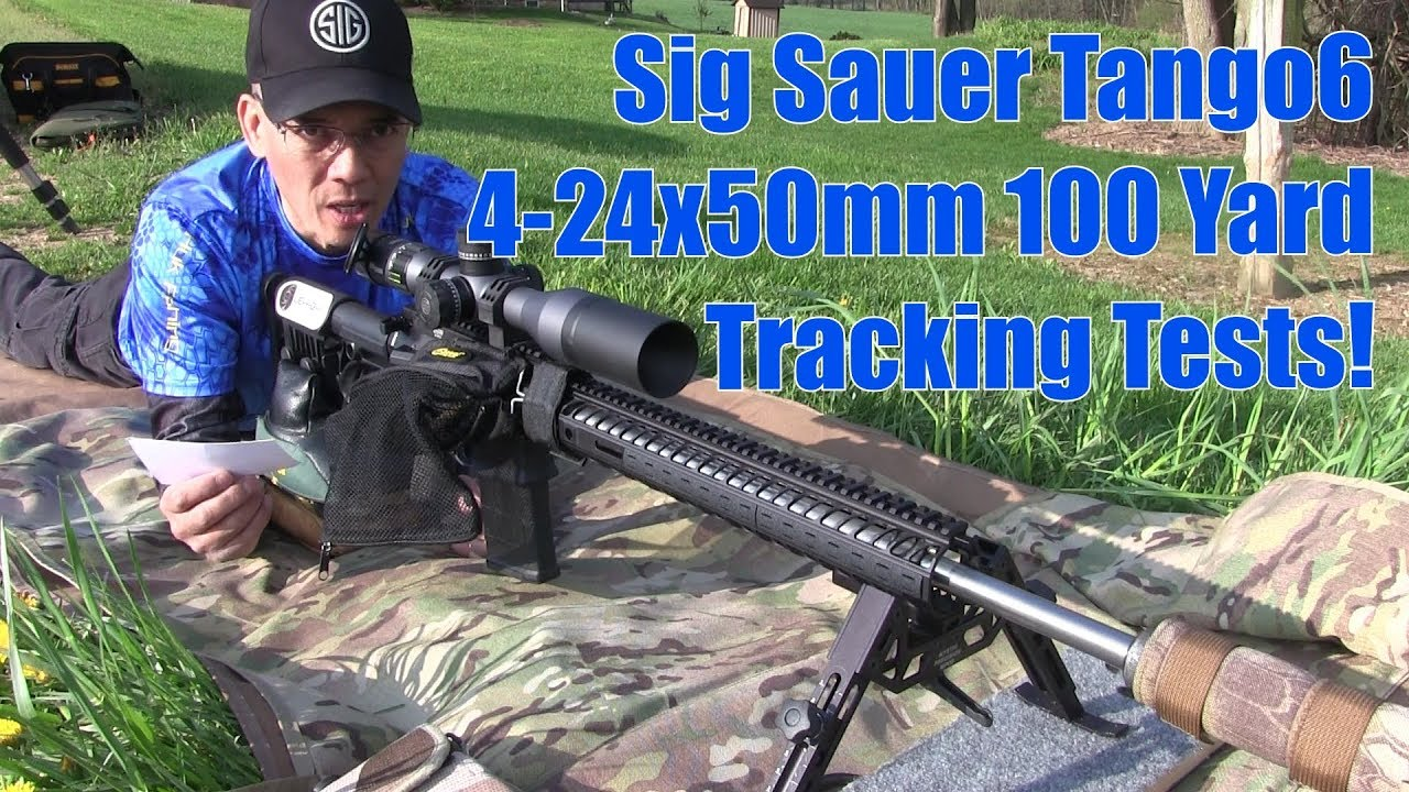 Sig Sauer Tango6 4-24x50mm 100 Yard Tracking Test Evolution Gun Works 20MOA Rail and 34mm Rings