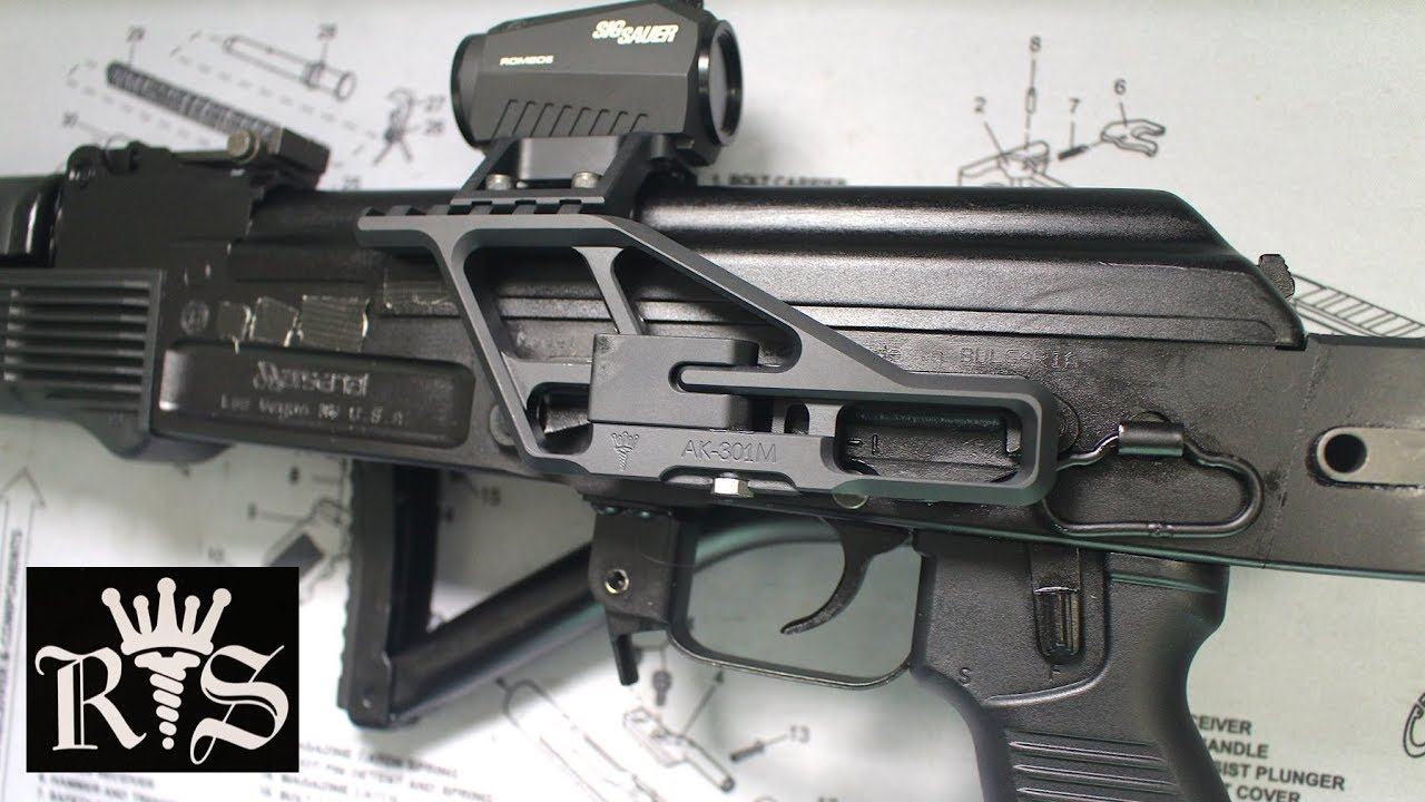 Installing RS Regulate Mount with Romeo5 on an AK