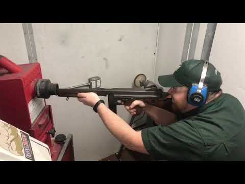 Our Gunsmith Shooting a Thompson M1A1 Full Auto