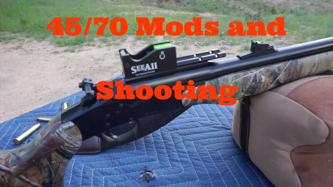 45/70 Mod and out shooting it... Kaboom‼️