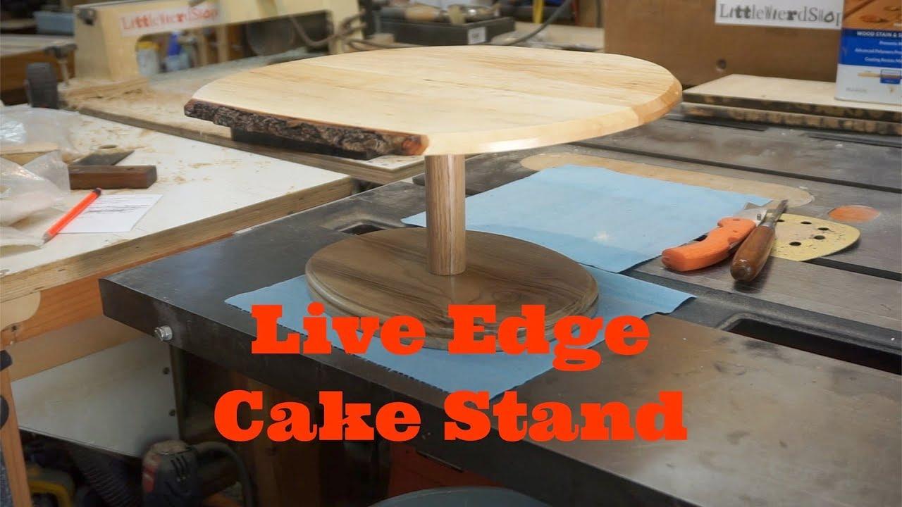 Live edge Cake Stand, Littlewierdshop