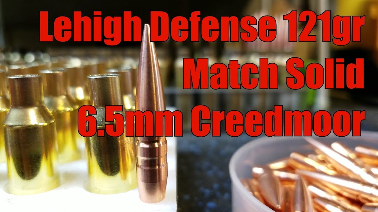 AR10 6.5 Creedmoor Odin Works 1st Load Development Lehigh Defense 121gr Match Solid Hodgdon Powder