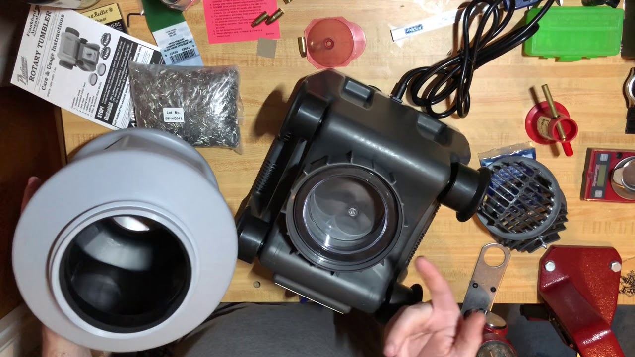 Frankford Arsenal Rotary Tumbler Unboxing and Use