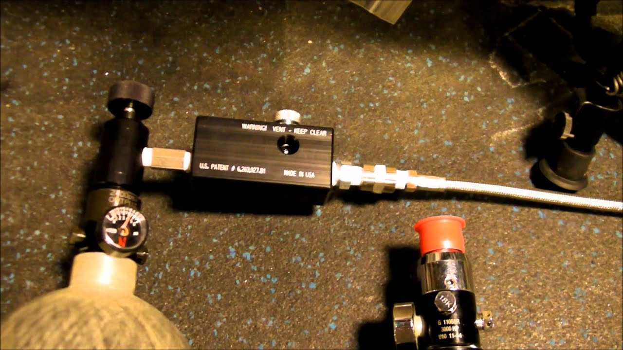 Benjamin Discovery .22 PCP Ninja 4500 Carbon Fiber Custom Regulator DrozdMax.wmv