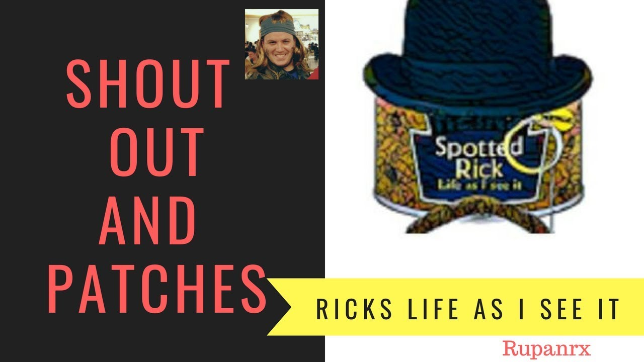 Channel Shout Out and IndieGOGO Patch campaign for Rick!