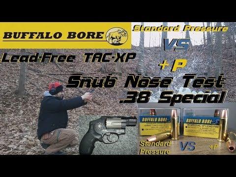 Buffalo Bore Lead-Free .38 Special - Standard Pressure Vs. +P