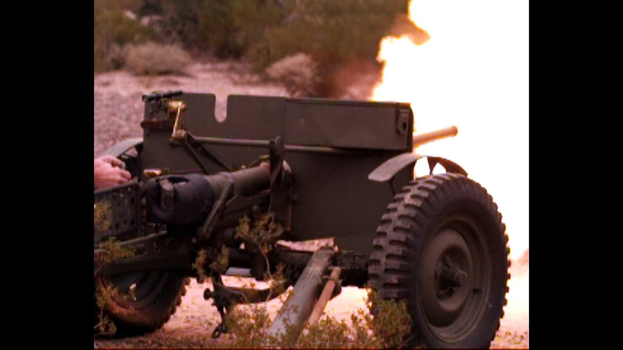 US M3 37mm Anti-Tank Gun (including slow motion!)