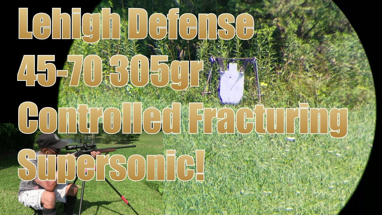 Lehigh Defense 305gr Controlled Fracturing Supersonic 45-70 Henry Single Shot Rifle Sightmark Scope