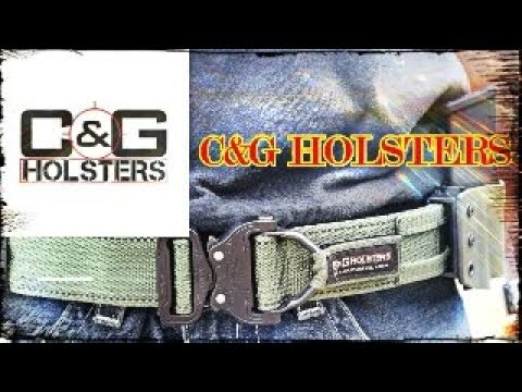C AND G HOLSTERS TWO PIECE BELT SYSTEM!!