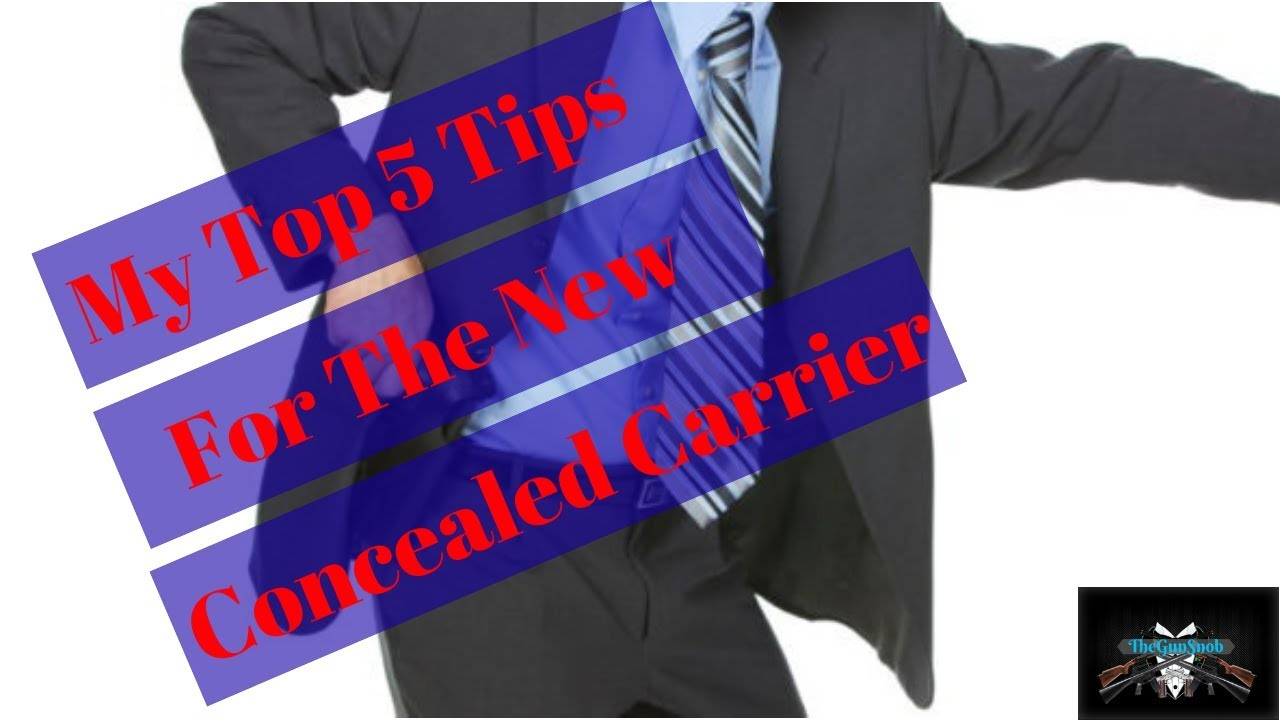 My Top 5 Tips For New Concealed Carriers!
