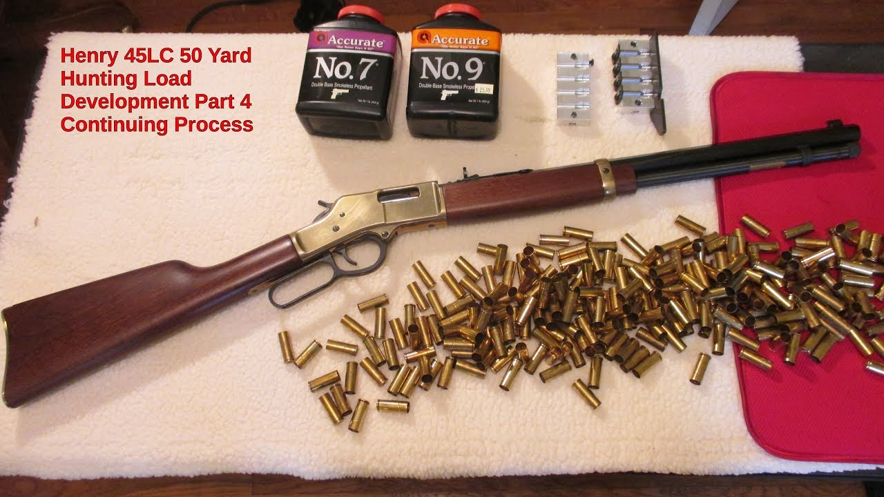 Henry 45LC 50 Yard Hunting Load Development Part 4