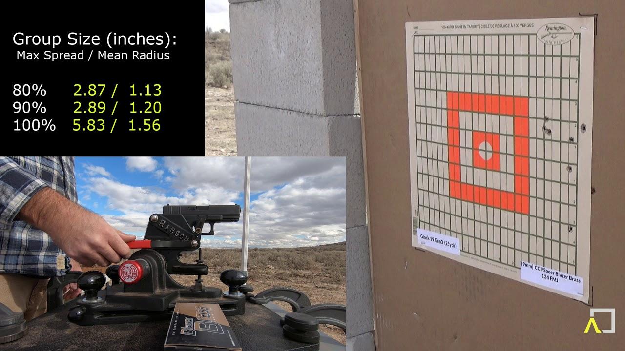 ACCURACY TEST: Glock 19 Gen5 with CCI / Speer Blazer Brass 115gr FMJ