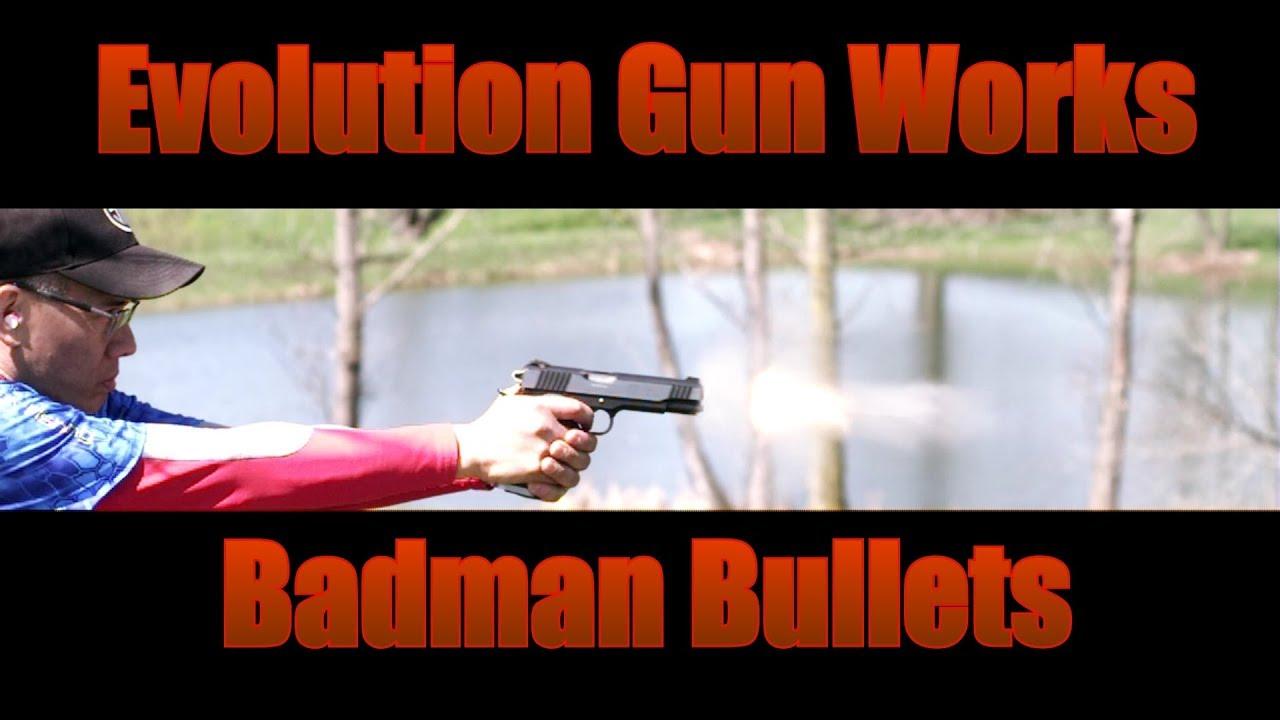 Evolution Gun Works Badman Bullets Klonimus Grips Having Fun in The Sun with My 1911