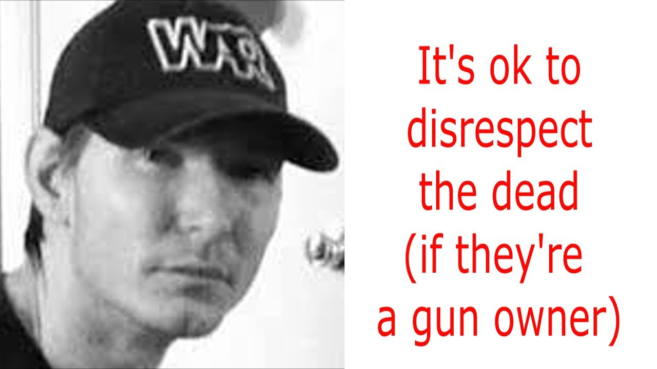 it's ok to disrespect the dead (if they're a gun owner) #gunrights  #GunsSaveLives #2A #constitution
