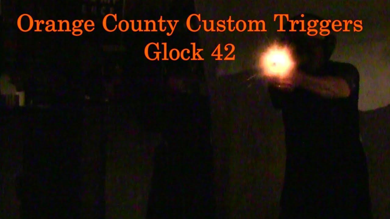 Orange County Custom Triggers Glock 42 Enhanced Trigger Overtravel Eliminator Clear Armorers Plate L