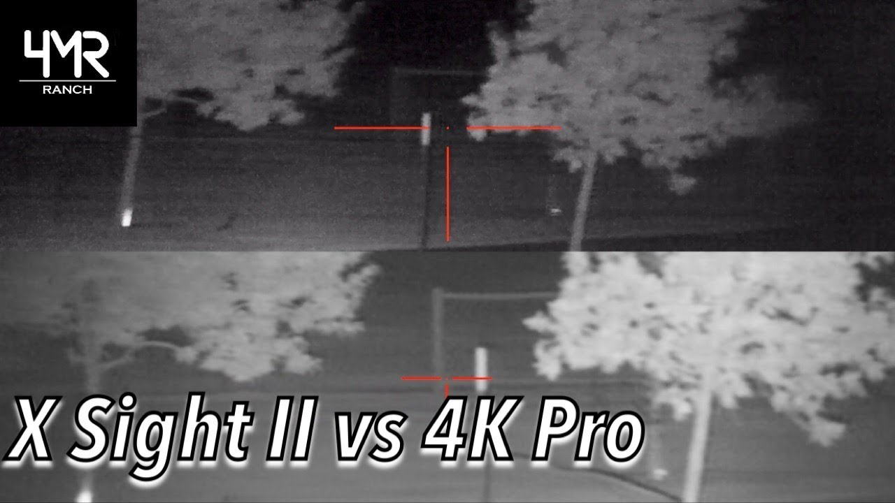 ATN X Sight II HD vs. 4K Pro Comparison