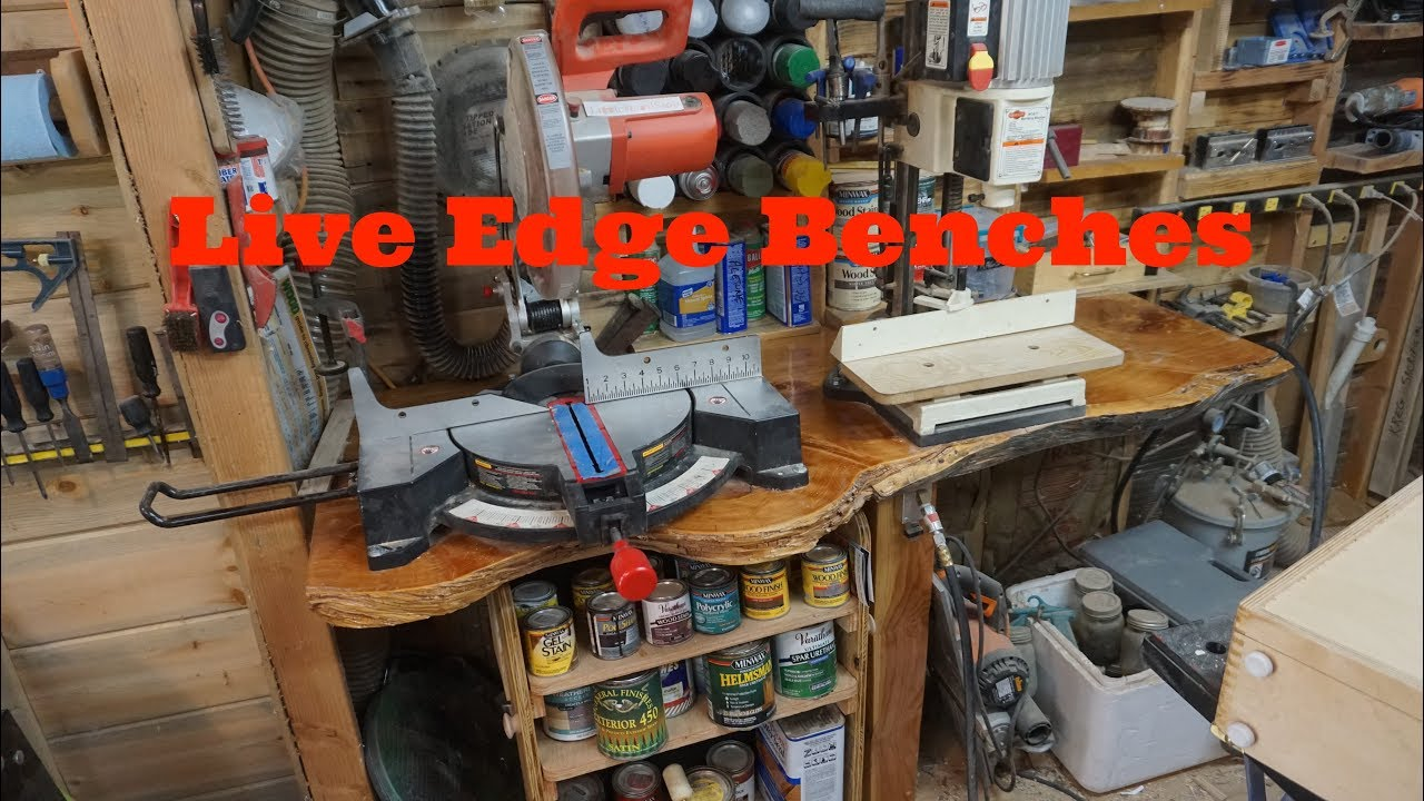 Live Edge Shop Benches, Littlewierdshop