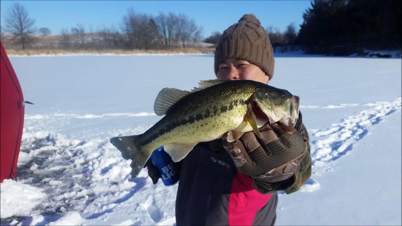 Iowa Ice fishing Feb 11th, 2018