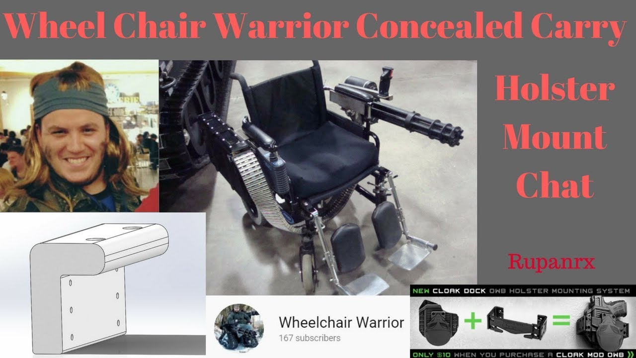 Wheelchair Warrior Holster Mount Prototyping