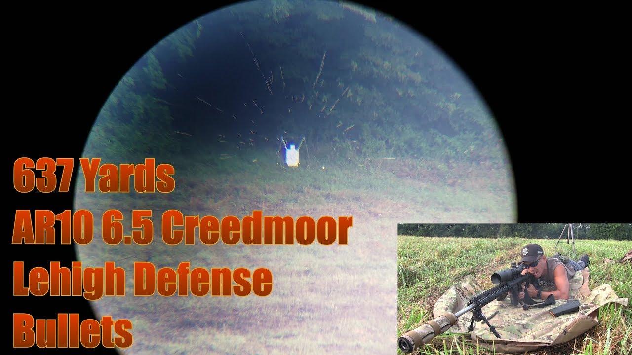 637 yard AR10 6.5 Creedmoor Sig Sauer Tango 6 5-30x56mm Odin Works Barrel Lehigh Defense Bullets