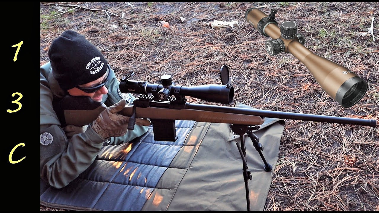 Bushnell Forge 4.5-27x50 FFP MIL Scope on 110 Tactical 6.5 Creedmoor Savage