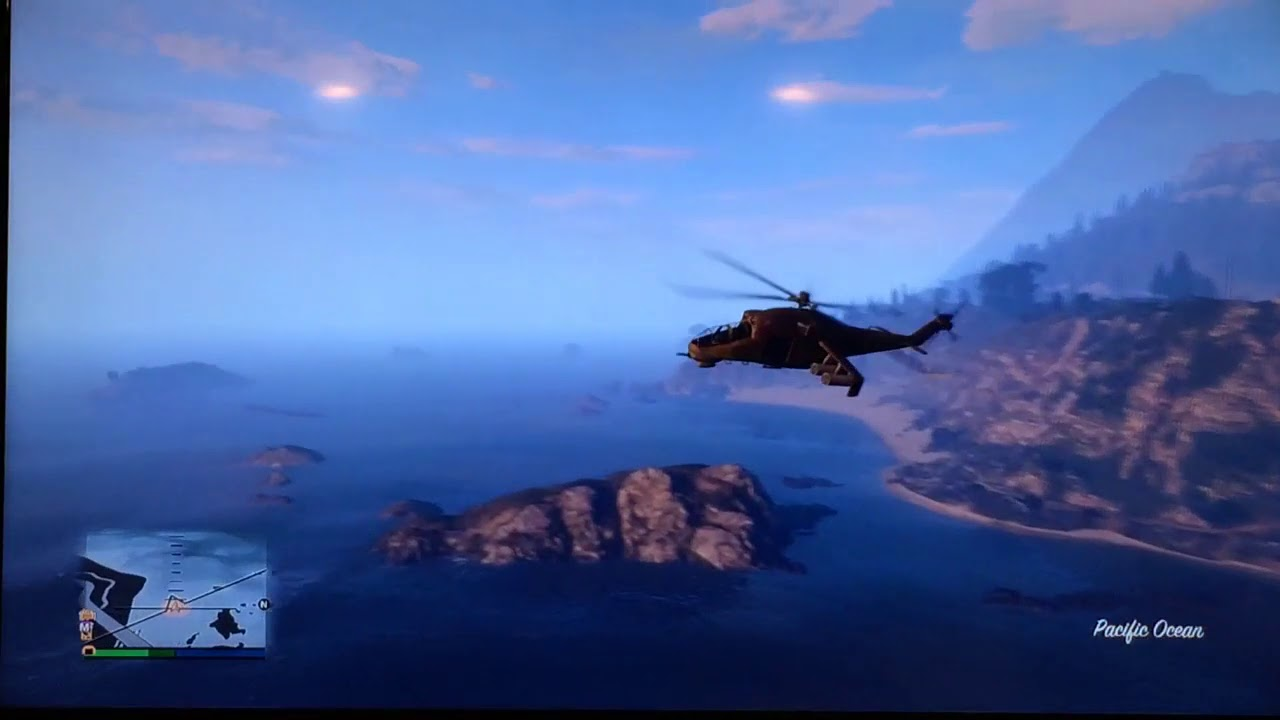GTA V , Soviet Helicopter the Mi24 Hind (Savage)